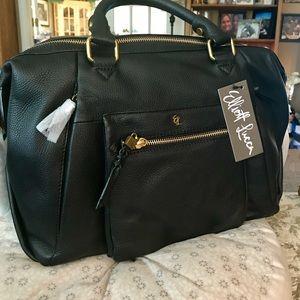 Elliott Lucca Leather Satchel / Shoulder Bag NWT